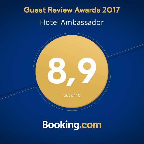 Booking.com: Guest review Award 2017 for Hotel Ambassador